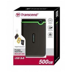 Transcend StoreJet 25 M3 500GB 2.5'' USB3.0 Black - Rubber Case, Anti-Shock - DARMOWA DOSTAWA!!!