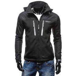 Czarna kurtka męska przejściowa Denley 2341 Kurtki i Płaszcze 119.99 (-29%)