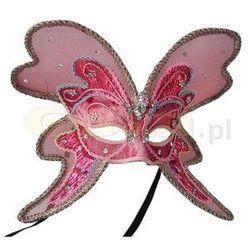 Maska elegancka na oczy skrzydła motyla