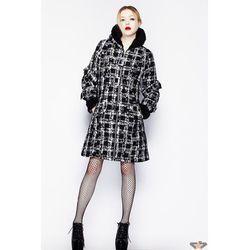 płaszczyk damski HELL BUNNY - Wrzosowisko - Black Fur - 8020