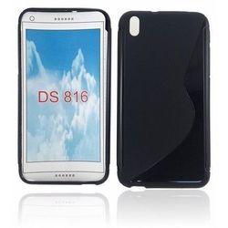 Silikonowa obudowa Back Case S-Line - czarna - HTC Desire 816