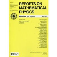 Reports on Mathematical Physics 75/2 2015 Kraj (opr. miękka)