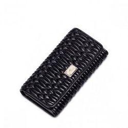 NUCELLE Długi damski portfel Czarny