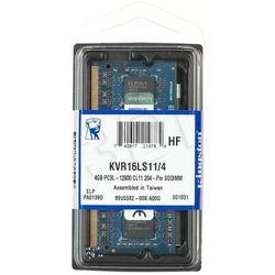 KINGSTON SODIMM DDR3 KVR16LS11/4 1,35 V- wysyłka dziś do godz.18:30. wysyłamy jak na wczoraj!