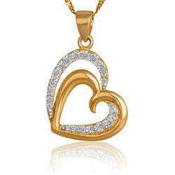 Złoty Komplet 585 Łańcuszek z Sercem GRAWER ZZ145