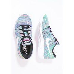 Nike Performance LUNAREPIC FLYKNIT Tenisówki i Trampki black/white/racer blue/clear jade/pink blast
