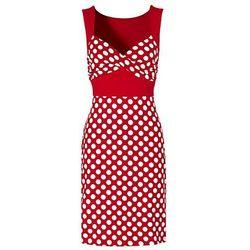 Sukienka bonprix czerwony w groszki