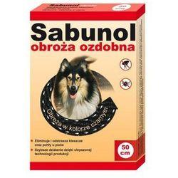 DR SEIDEL Sabunol - ozdobna obroża przeciw pchłom i kleszczom dla psa czarna 50cm