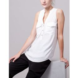 Koszula bezrękawnik Ecru XL