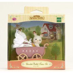 Sylvanian Families, wózek dziecięcy, bliźniaki królików z czekoladowymi uszkami, zestaw z figurkami Darmowa dostawa do sklepów SMYK
