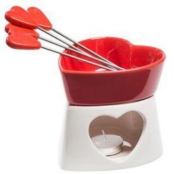 Czekoladowe fondue porcelanowe czerwone