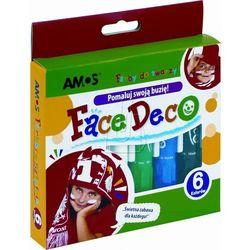Farby do twarzy Face Deco 6 kolorów blister AMOS
