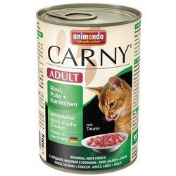 ANIMONDA Cat Carny Adult smak: wołowina, indyk i królik 200g