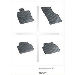 Dywaniki gumowe czarne z kompletem stoperów - Skoda Octavia (III) od 2012