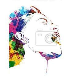 Fototapeta profil femme
