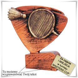Statuetka odlewana Badminton, + opcja grawerowania