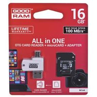 GOODRAM ALL IN ONE microSDHC 16GB Class 10+Czyt.kar - M1A4-0160R12