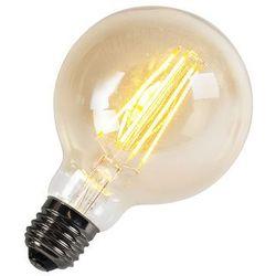 Żarówka Filament LED G95 5W 2200K złota ściemnialna