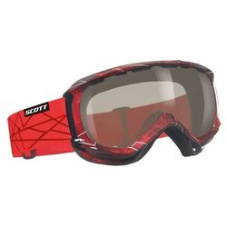 Gogle SCOTT REPLY fractal red (black chrome 32)