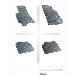 Dywaniki gumowe czarne z kompletem stoperów - Daewoo Lanos 1997-2002
