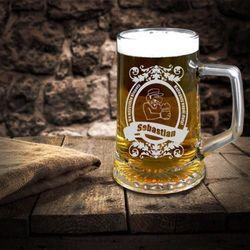 Grawerowany kufel na piwo - NA KŁOPOTY