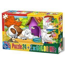 23-073002 Puzzle Piesek przy budzie - PUZZLE DLA DZIECI