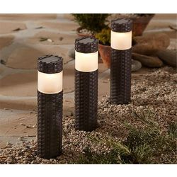Solarne kolumny LED, 3 sztuki