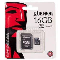 Karta pamięci Kingston Secure Digital Micro SDC4 Class 4 + Adapter mikroSD-SD 16GB - SDC4/16GB