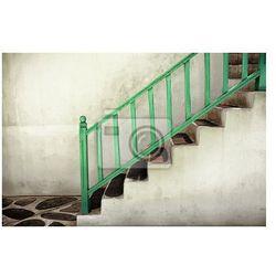 Obraz Brudne schody z poręczami