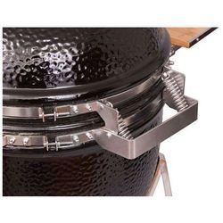 Grill ceramiczny Monolith JUNIOR, czarny lub bordowy, ruszt 33 cm