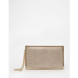 Dune Snake Effect Clutch Bag - Cream