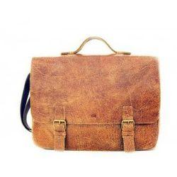 f7ad0f5ba2496 JAZZY WANTED 24 torba/ teczka skóra naturalna firmy Daag na ramię unisex z  miejscem na