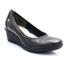 7c1b823826b18 LEMAR 10056 CZARNY - Wygodne buty damskie na lekkiej koturnie WYPRZEDAŻ  -40% (-