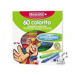 Flamastry pisaki mazaki FIBRACOLOR 60 kolorów HIT!