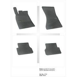 Dywaniki gumowe czarne z kompletem stoperów - Audi A7 od 2010