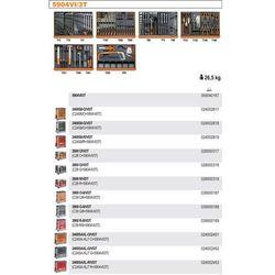 WÓZEK NARZĘDZIOWY 2400/C24SL Z ZESTAWEM NARZĘDZI, 142 ELEMENTY, MODEL 2400SAXL7-R/VI3T, CZERWONY