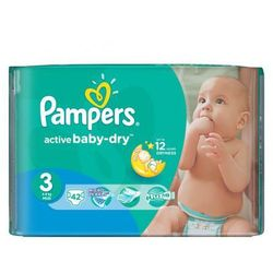 Pampers, Active Baby, Pieluszki jednorazowe, Midi, MidPack, 42 szt.