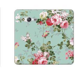 Flex Book Fantastic - Samsung Galaxy Trend 2 Lite - pokrowiec na telefon - różyczki