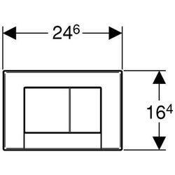 Przycisk uruchamiający GEBERIT Bolero 115.777.21.1