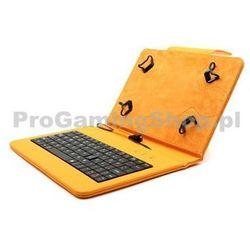 Akcia - Etui FlexGrip z klawiaturą na GoClever Orion 70, Pomarańczowy