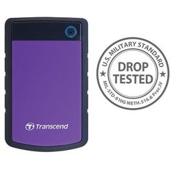 Transcend StoreJet 25 H3P 1TB czarno-fioletowy USB 3.0