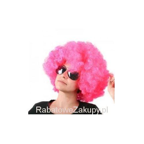 Peruka Afro Różowa
