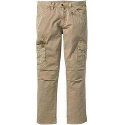 Spodnie bojówki Loose Fit Straight bonprix beżowy