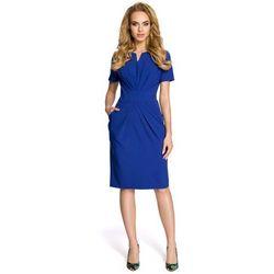 e78f1cbccc49a suknie sukienki simone koronka sukienka chabrowy (od Drapowana ...