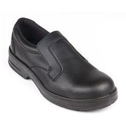 Buty ochronne Slip On unisex | czarne | rozmiary 36-47