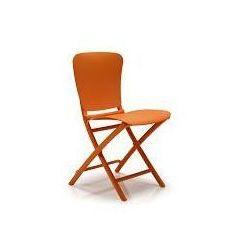 Krzesło składane Zac - pomarańczowy