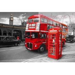 Londyn - Symbole - Budka Telefoniczna , Autobus, Big Ben ... - plakat