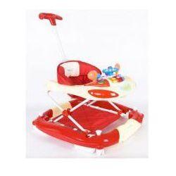 Chodzik kołyska z kierownicą kremowo-czerwony Sun Baby SB-213PRN/1/KC