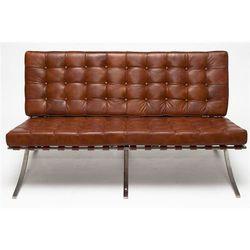 Sofa BA2 2 osobowa, jasny brąz skóra
