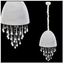 LAMPA wisząca LA MORENA LDP 7009C WH Lumina Deco halogenowa OPRAWA z kryształkami crystal biały